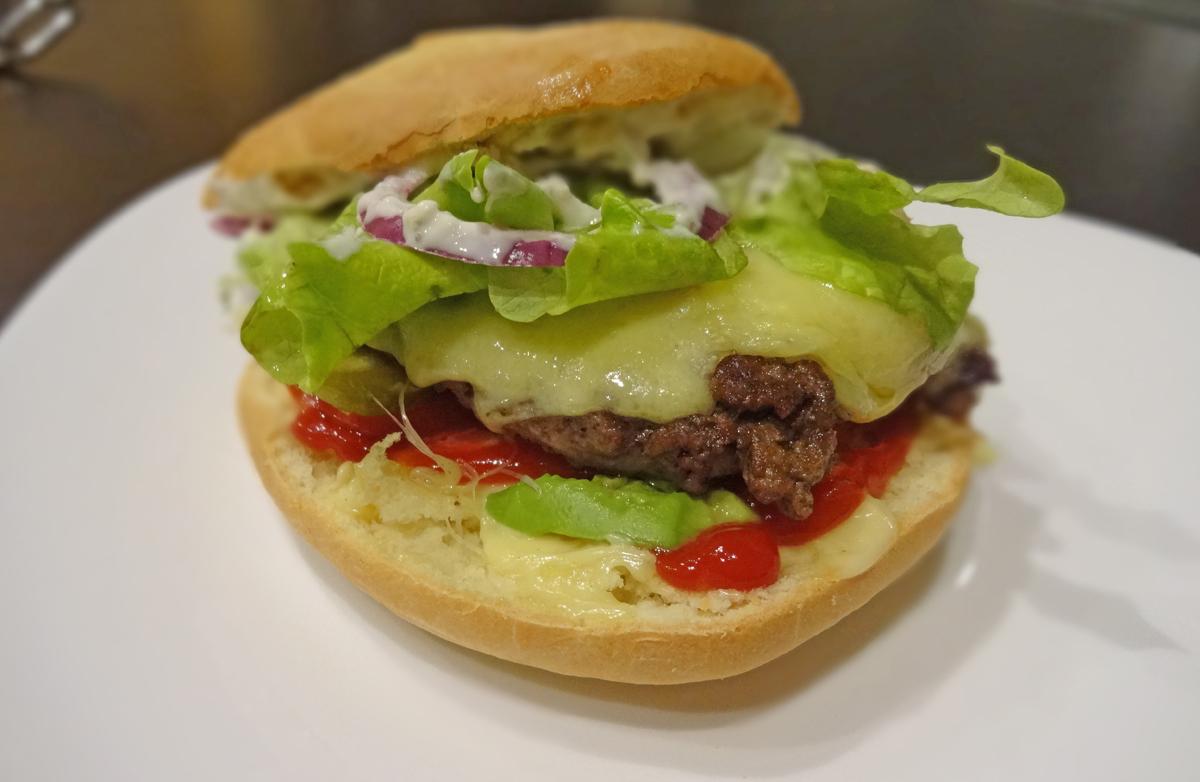 burger maison au boeuf